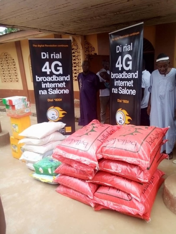 Orange Donates Food Items To Mosques In Bombali And Kono Districts