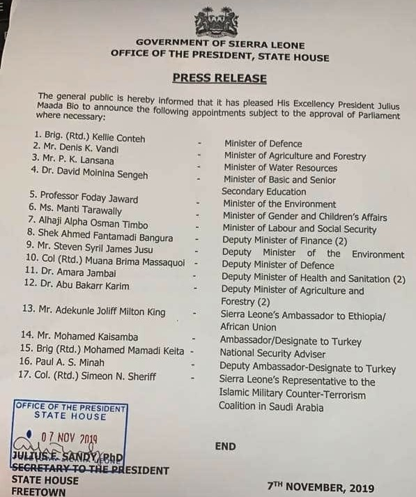 Unprecedented Cabinet Reshuffle… Two Foreign Missions and Ministries Added