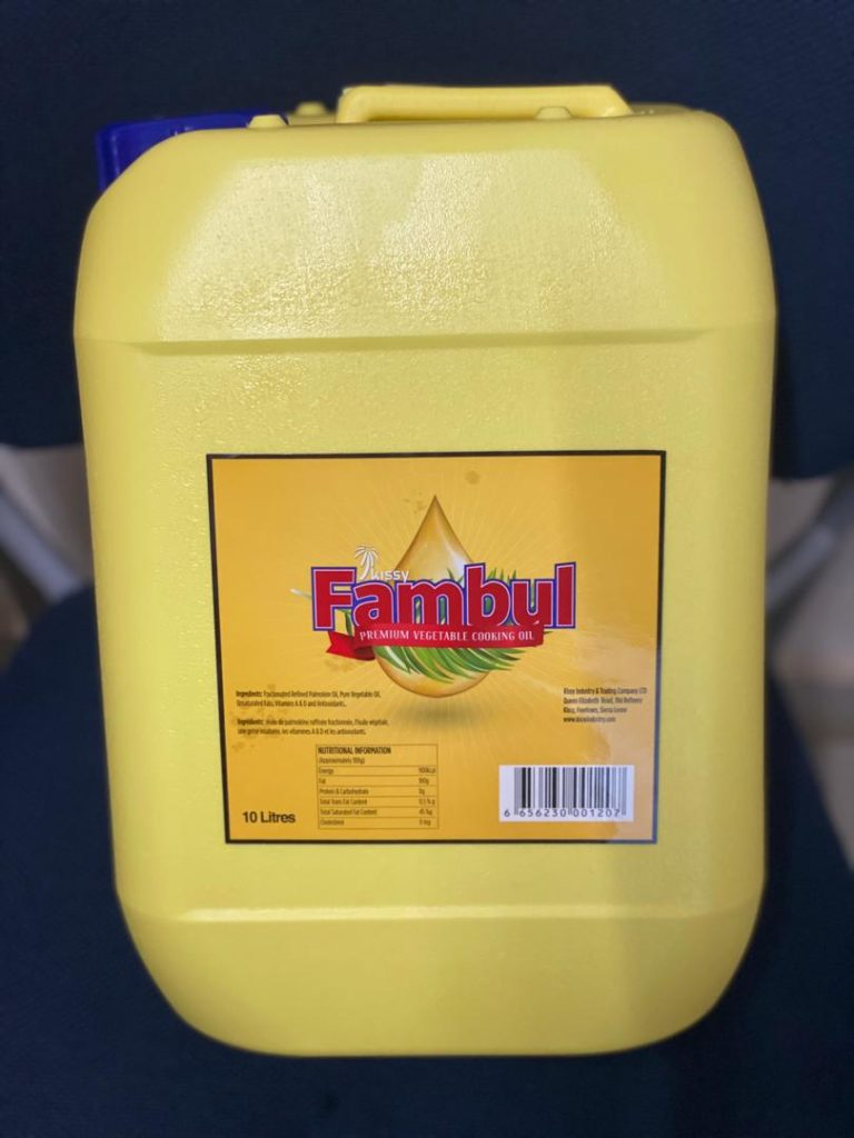 Health Hazard…  Substandard Fambul Oil On Sale