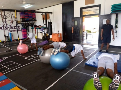 Six Elite Swimmers Join Body Tech-Fitness Studio Gymnasium