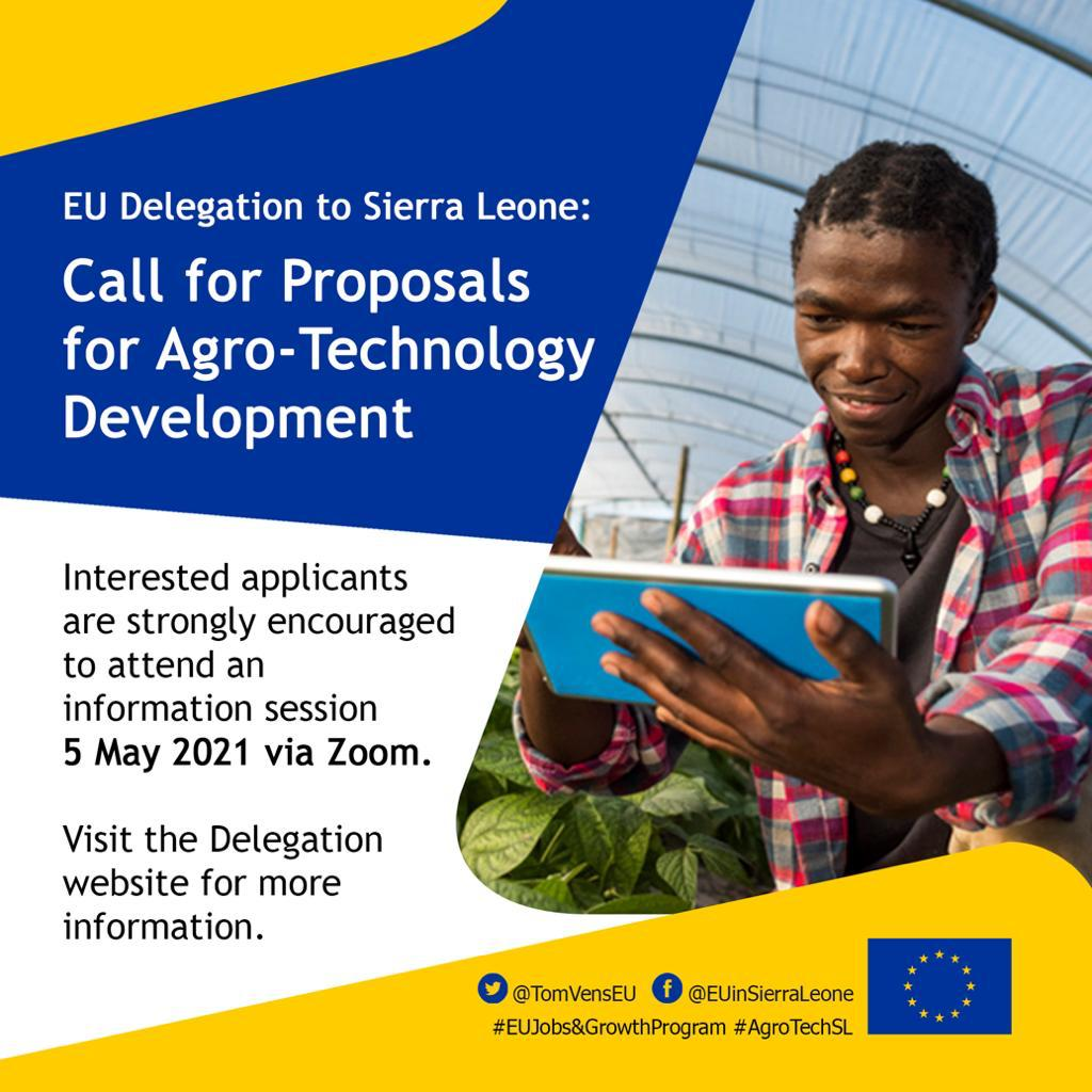 European Union Delegation to Sierra Leone: Call for proposals for Agro-Technology Development